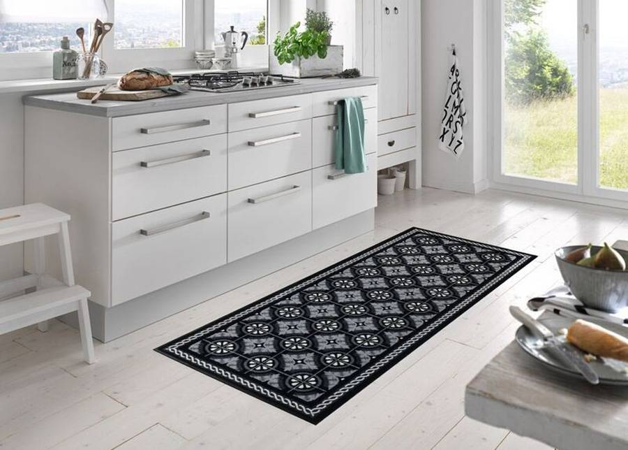 Kleen-Tex Matto Kitchen Tiles black 75x190 cm
