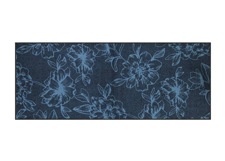 Image of Salonloewe Matto Flower Dance blue 75x190 cm