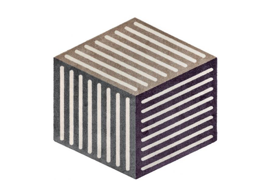 Image of Kleen-Tex Matto Puzzle Cube velvet 100x100 cm