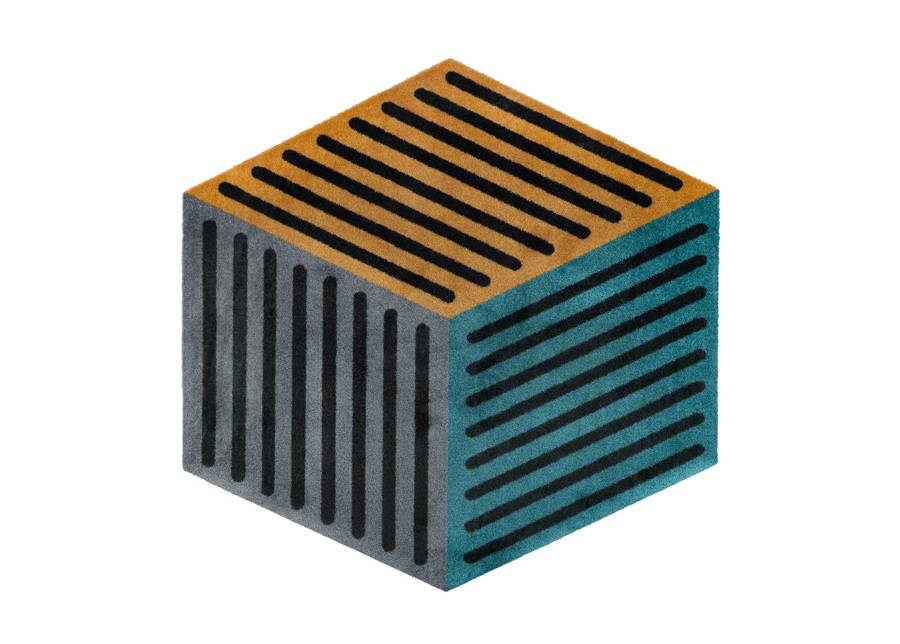 Image of Kleen-Tex Matto Puzzle Cube peacock 100x100 cm