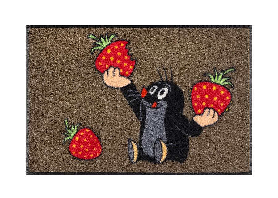 Image of Kleen-Tex Matto Der kleine Maulwurf - isst Erdbeeren 50x75 cm