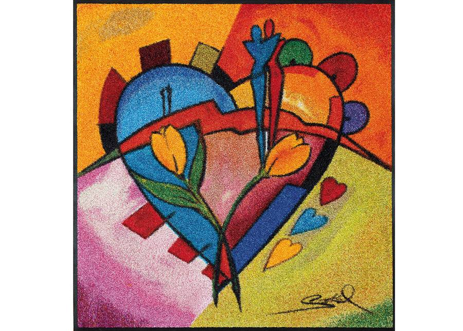 Image of Kleen-Tex Matto BALANCED LOVE II 85x85 cm