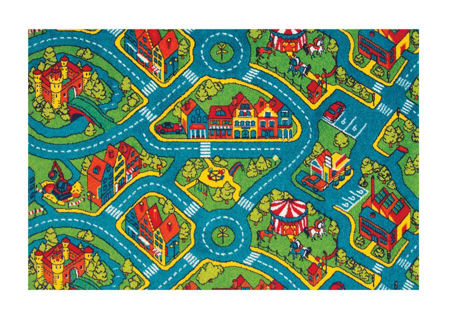 Lasten matto AUTOTIET 120x170 cm