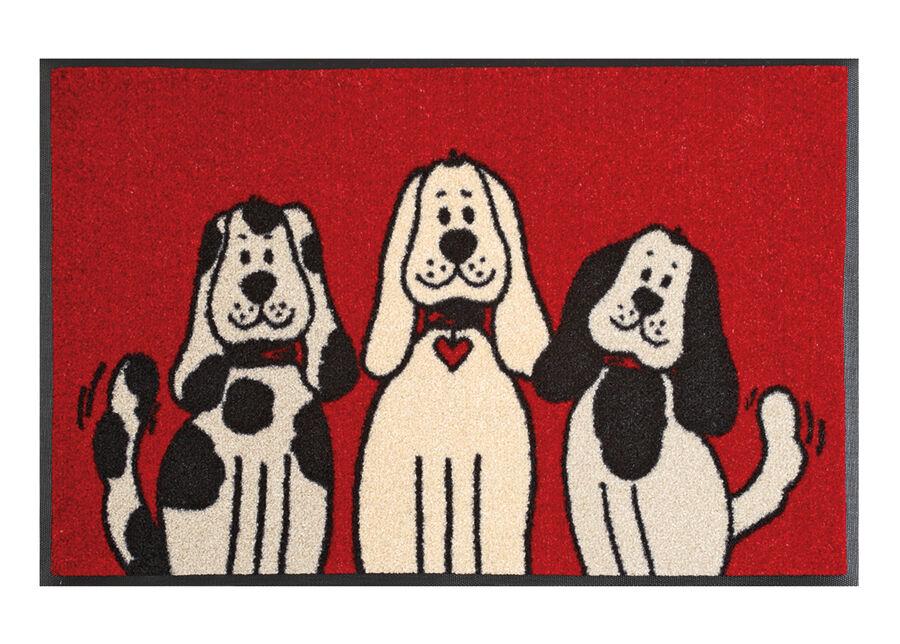 Image of Kleen-Tex Matto THREE DOGS 50x75 cm
