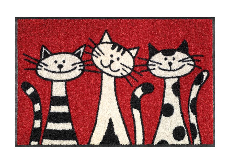 Image of Kleen-Tex Matto THREE CATS 50x75 cm
