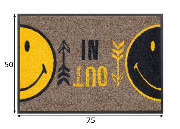 Image of Kleen-Tex Matto SMILEY IN OUT 50x75 cm