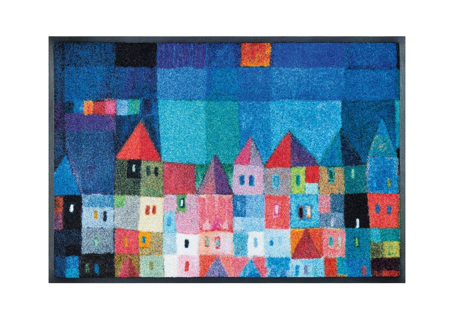 Image of Kleen-Tex Matto COLOURFUL HOUSES 50x75 cm