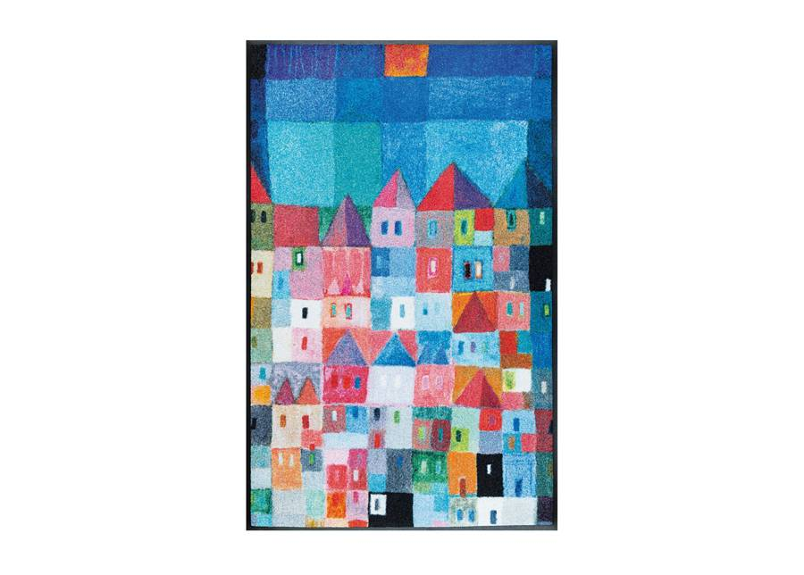 Image of Kleen-Tex Matto COLOURFUL HOUSES 75x120 cm