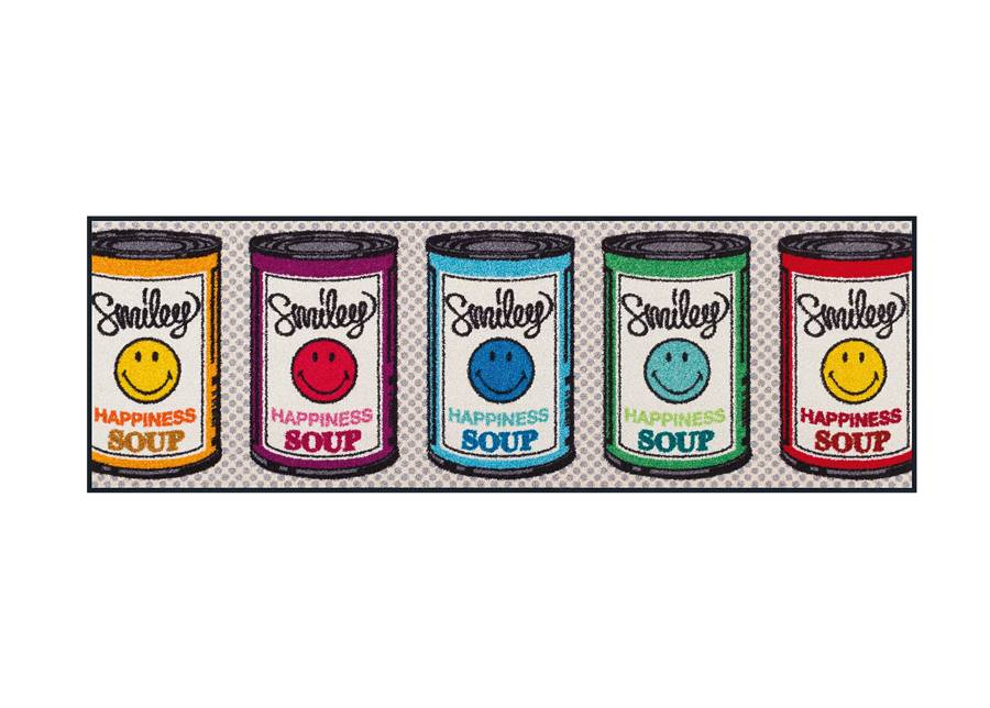 Image of Kleen-Tex Matto SMILEY HAPPINESS SOUP 60x180 cm
