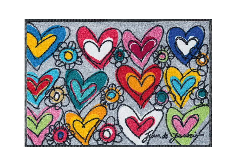 Kleen-Tex Matto WITH LOVE, ALL THINGS ARE POSSIBLE 50x75 cm