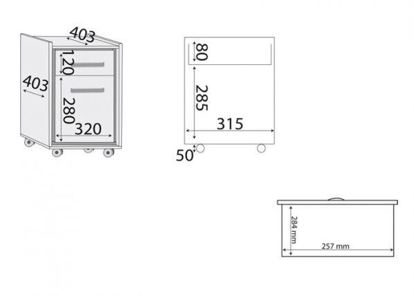 MLMeble Yöpöytä / laatikosto