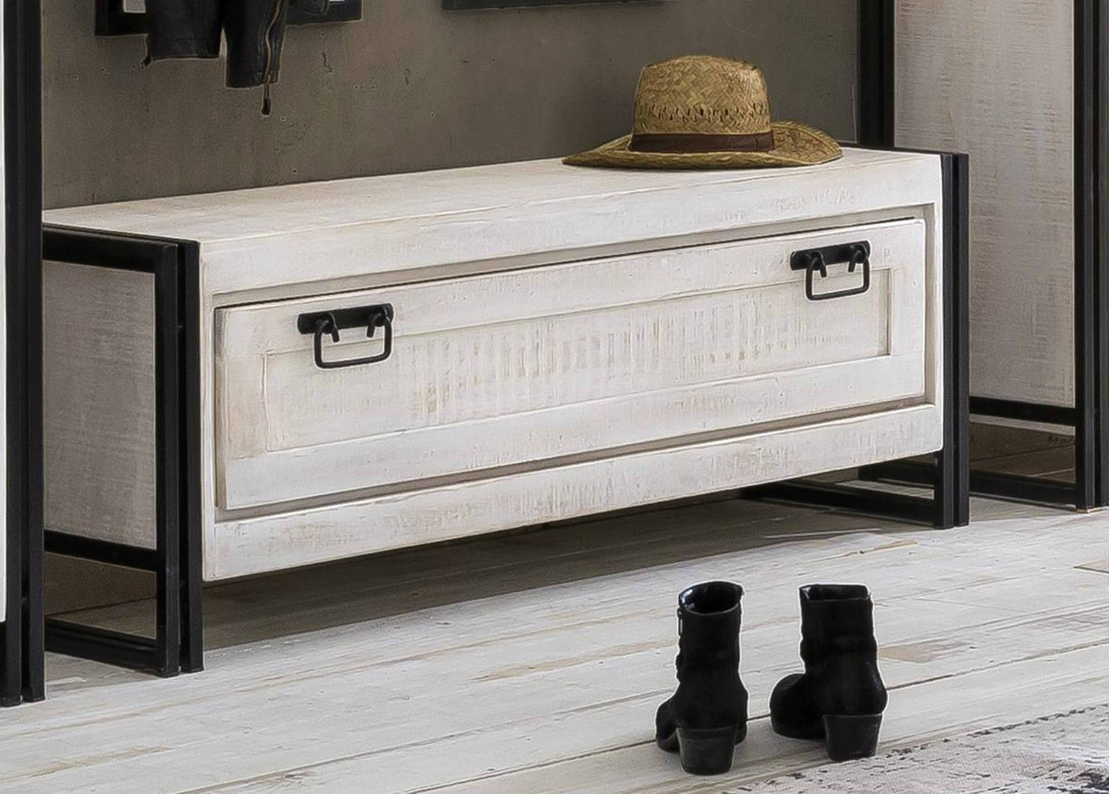 SIT Möbel Kenkäkaappi White Panama
