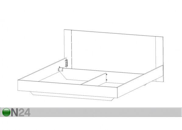 Sänky ILONA 160x200 cm