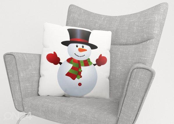 Image of Wellmira Koristetyynyliina CHRISTMAS SNOWMAN 50x50 cm