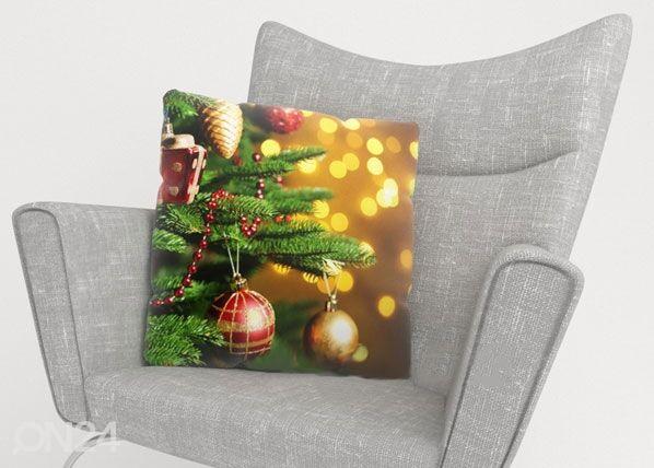 Image of Wellmira Koristetyynyliina CHRISTMAS TOYS 40x60 cm