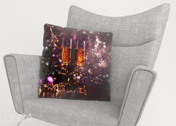 Image of Wellmira Koristetyynyliina CHRISTMAS WINE 50x50 cm