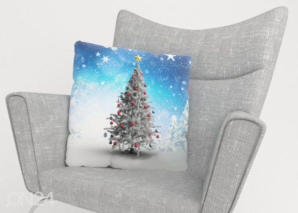 Image of Wellmira Koristetyynyliina WHITE CHRISTMAS TREE 50x50 cm