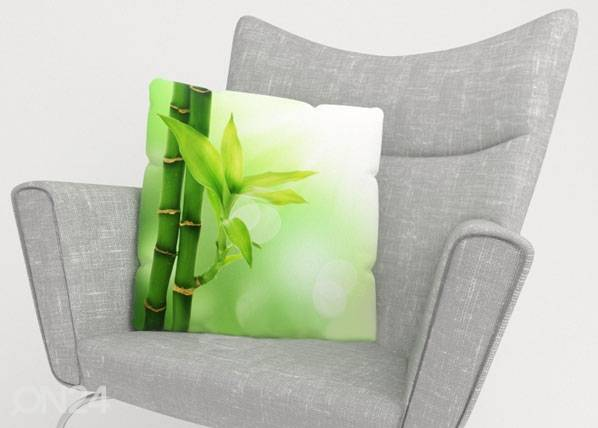 Image of Wellmira Koristetyynyliina GREEN BAMBOO 40x60 cm