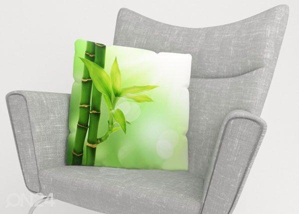 Image of Wellmira Koristetyynyliina GREEN BAMBOO 50x50 cm