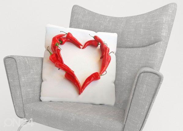 Image of Wellmira Koristetyynyliina HOT HEART 40x60 cm