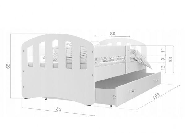 Image of AJK-Meble Lastensänky vuodevaatelaatikolla 80x160 cm + patja