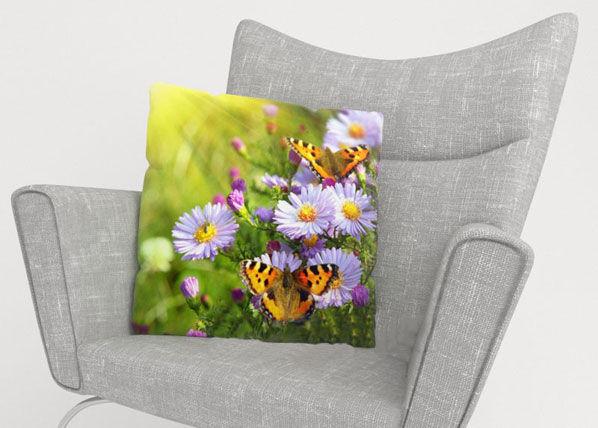 Image of Wellmira Koristetyynyliina BATTERFLIES 50x50 cm