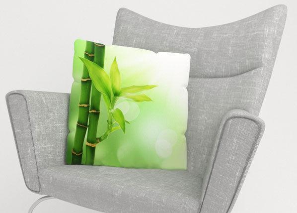 Image of Wellmira Koristetyynyliina GREEN BAMBOO 45x45 cm