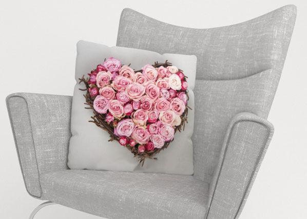 Image of Wellmira Koristetyynyliina HEART OF LOVE 45x45 cm