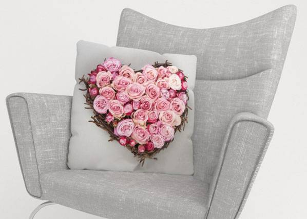 Image of Wellmira Koristetyynyliina HEART OF LOVE 50x50 cm