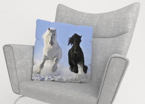 Image of Wellmira Koristetyynyliina HORSES 45x45 cm