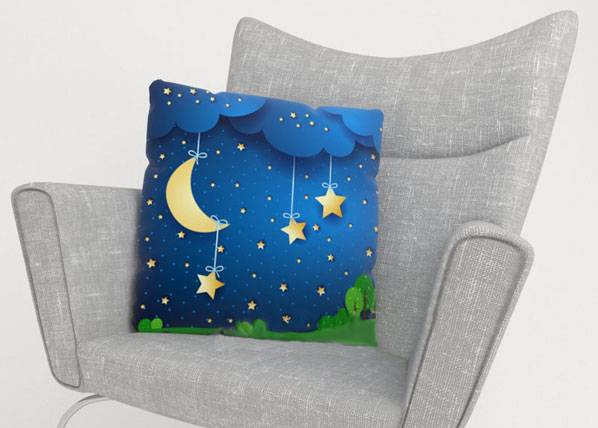 Image of Wellmira Koristetyynyliina MOON AND STARS 50x50 cm