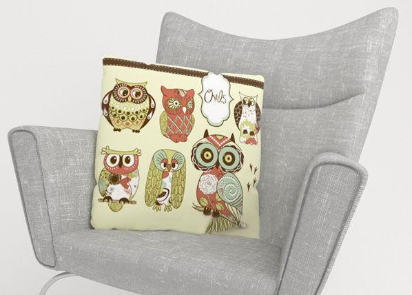 Image of Wellmira Koristetyynyliina OWL 2 50x50 cm