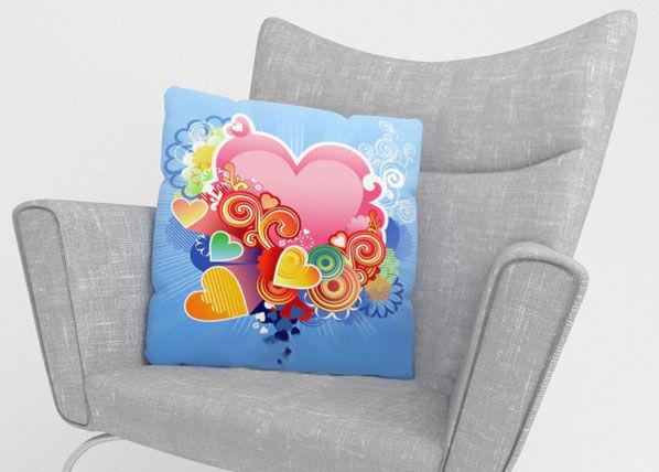 Image of Wellmira Koristetyynyliina PINK HEART 50x50 cm