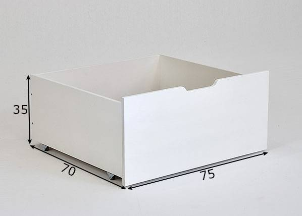 INFANO Vuodevaatelaatikko Jerwen 75x70x35 cm