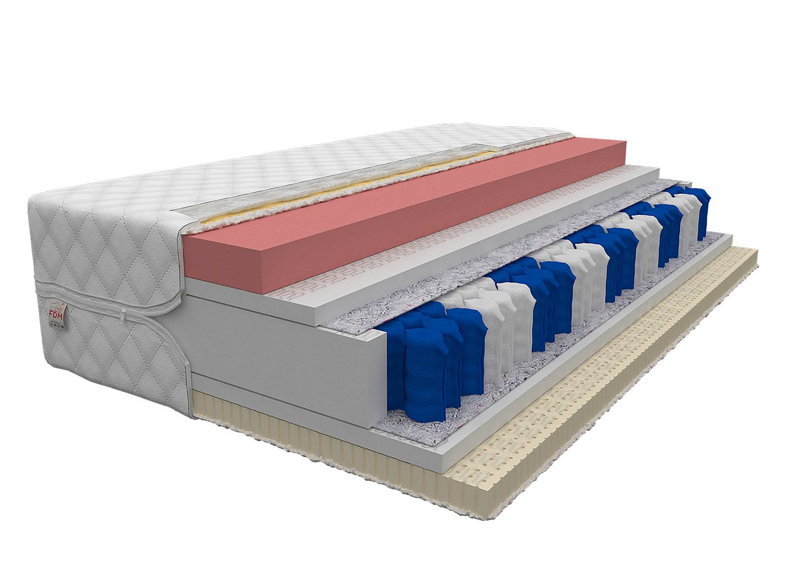 Image of FDM Joustinpatja Davos Lateks Pocket 80x200 cm
