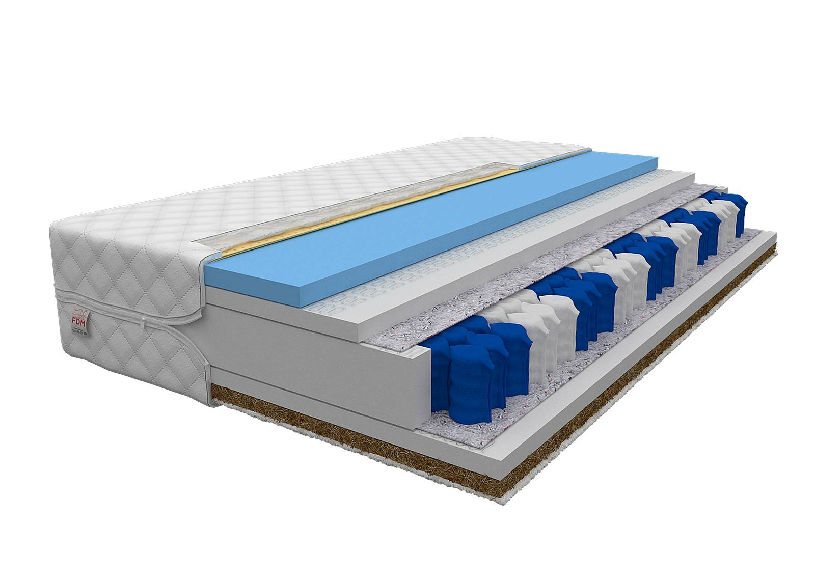 Image of FDM Joustinpatja Laval Pocket 160x200 cm
