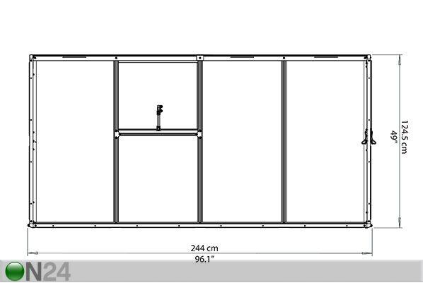 Seinä kasvuhuone PALRAM HYBRID 3,04 m²