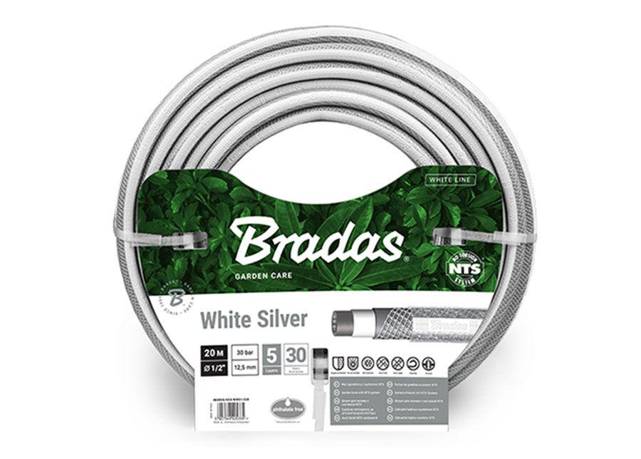 """Bradas Kasteluletku Bradas NTS White Silver 1/2"""""""