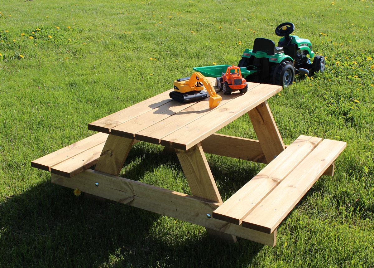 MSL Lasten puinen ulkokalustesetti