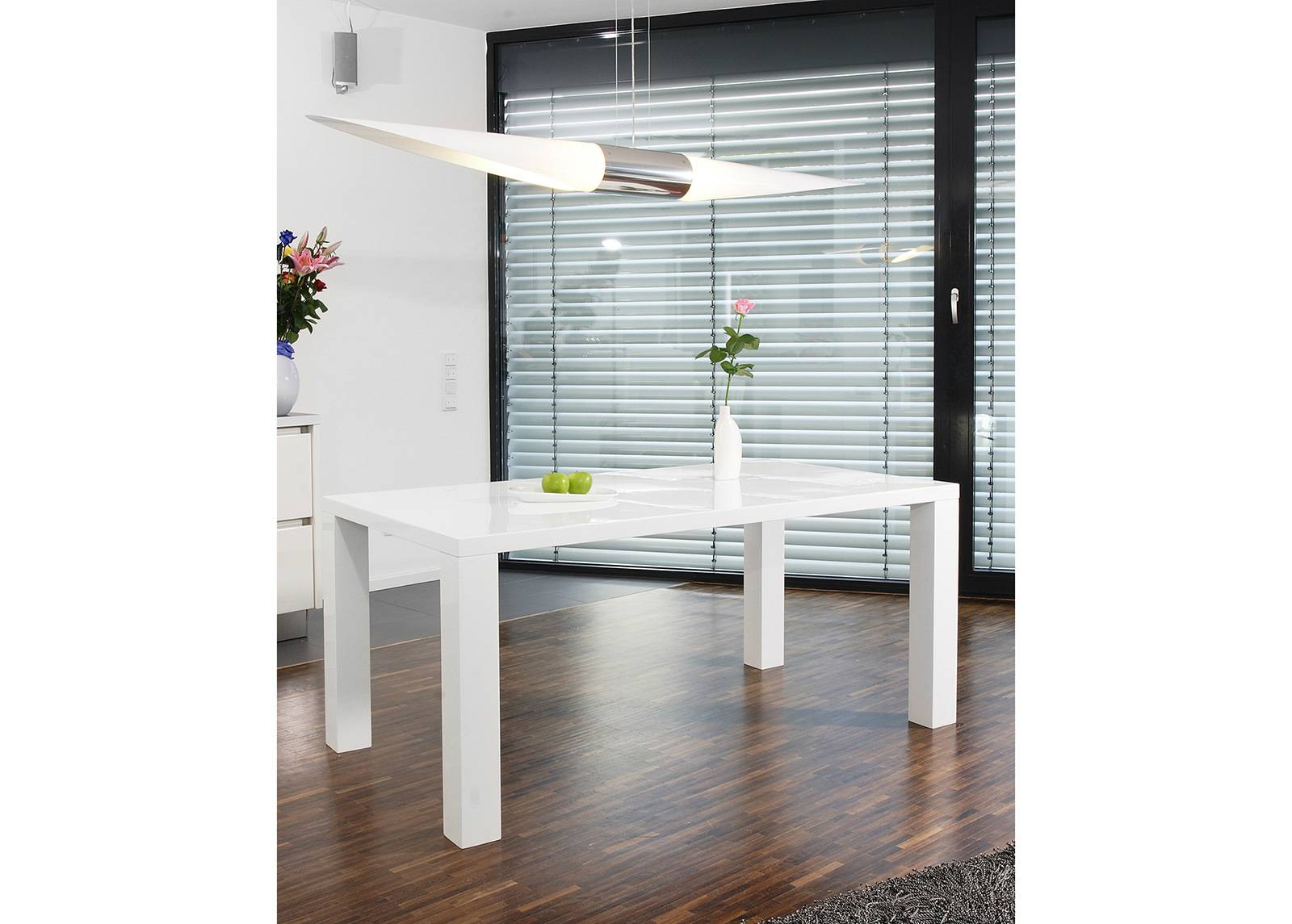 Salesfever Korkeakiiltoinen ruokapöytä 90x140 cm