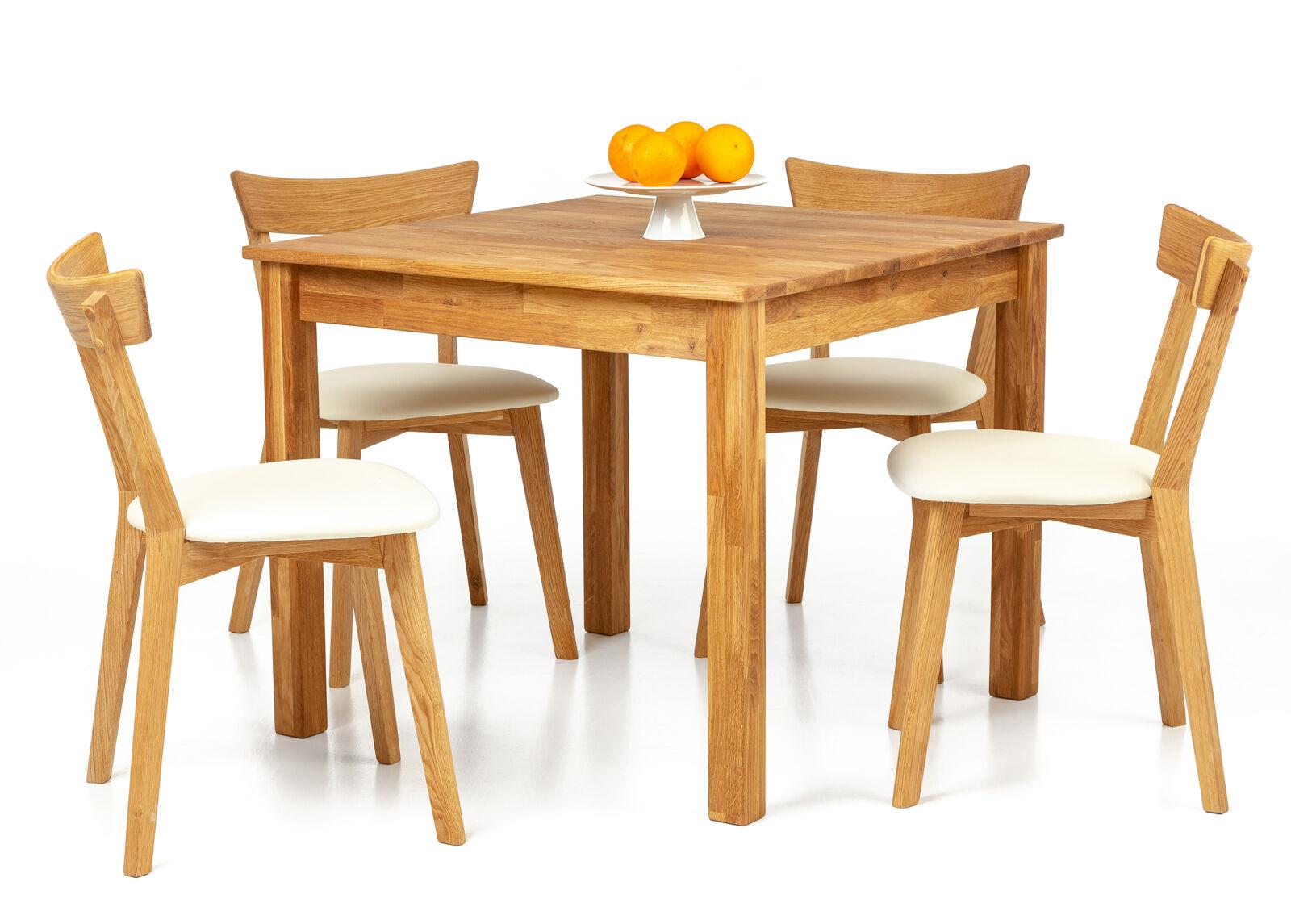 Lem Tammi ruokapöytä Lem 90x90 cm + 2 tuolia Viola beige