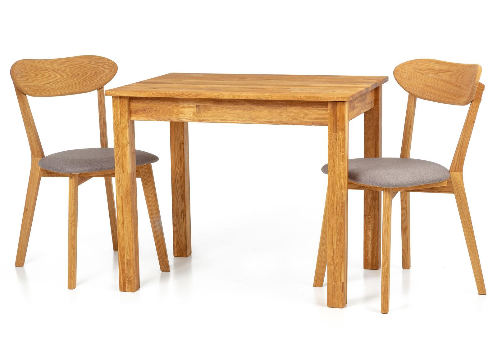 Lem Tammi ruokapöytä Len22 90x65 cm + 2 tuolia Irma harmaa