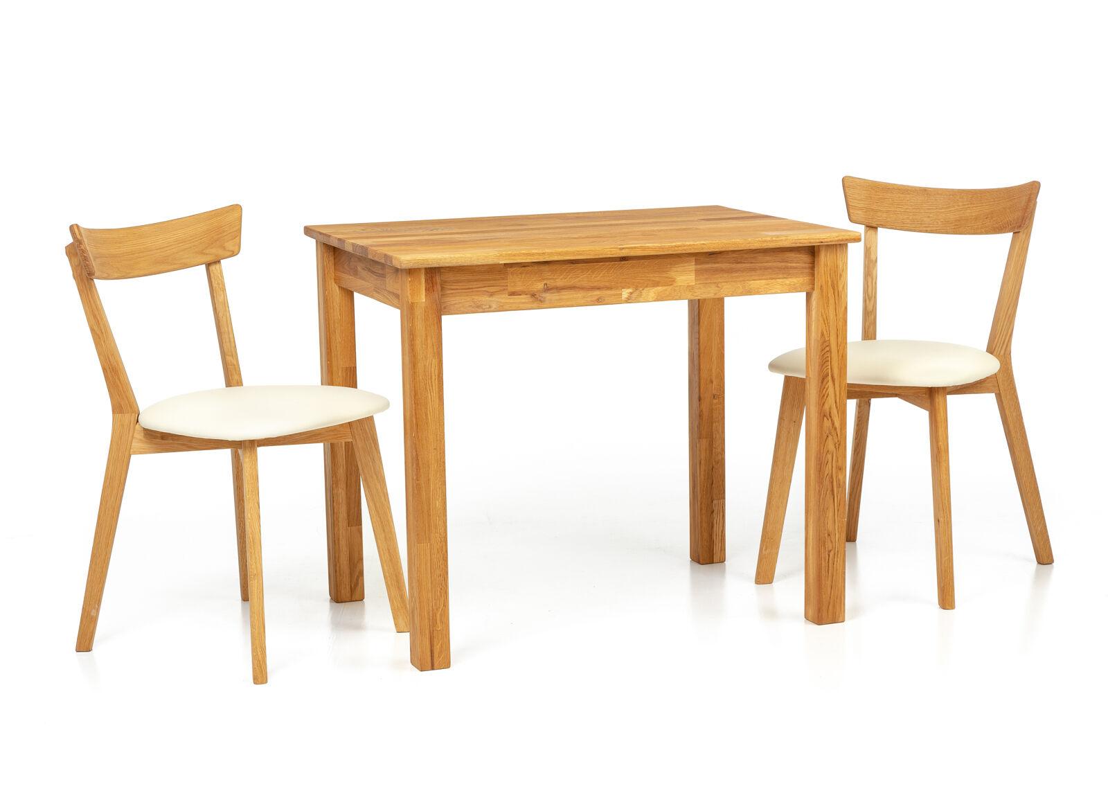 Lem Tammi ruokapöytä Len23 90x65 cm + 2 tuolia Viola beige