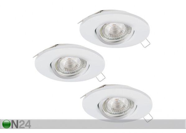 EGLO Upotettava kattovalaisin PENETO 1 LED, 3 kpl