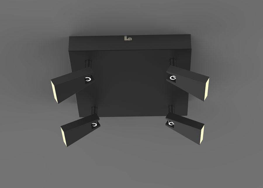 Zumaline Kattovalaisin SPAZIO BLACK LED