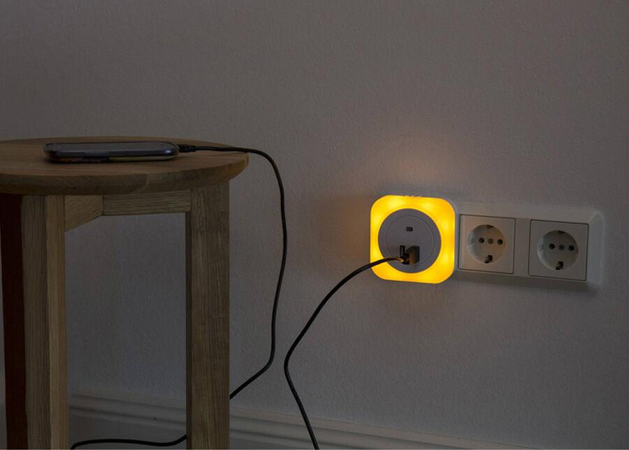 MÜLLER LICHT LED yövalo+2x USB lataaja