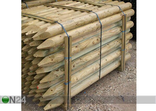 AB Polar Kyllästetty puutolppa, 4 kpl 6x180 cm
