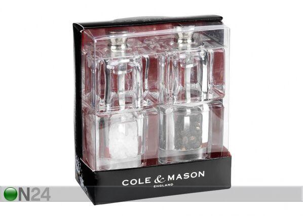 Cole and Mason Suola-ja pippurimyllypakkaus MINI CUBE