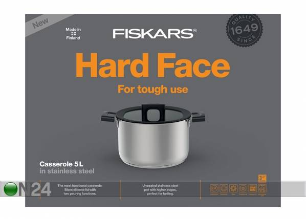 Fiskars Kattila FISKARS HARD FACE STEEL Ø 22 cm
