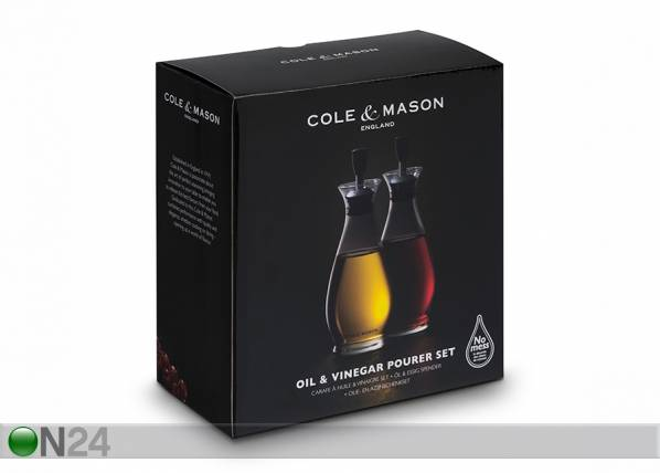 Cole and Mason Öljy- ja etikkapullosetti